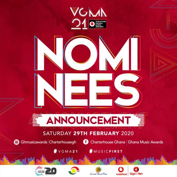 The Big Announcement – Nominees of the 21st Vodafone Ghana Music Awards