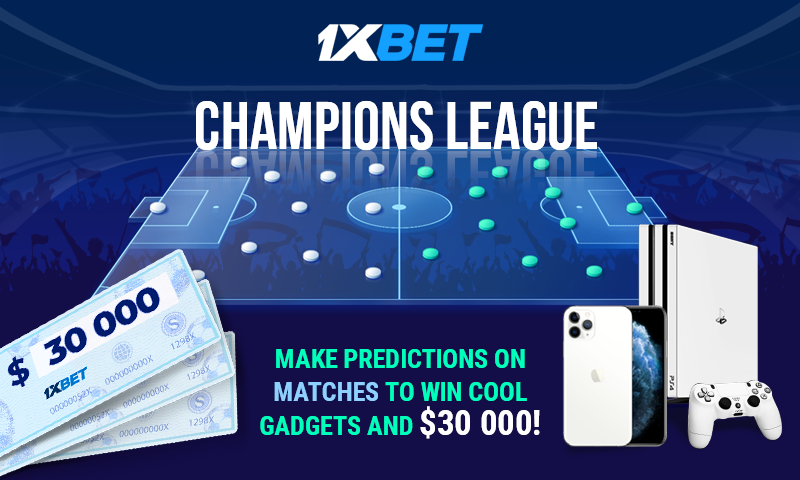 Photo of Breathtaking prizes at 1xBet with Champions League!