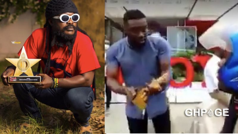 Good Samaritan returns Ras Kuuku's VGMA plaque after finding it in the ghetto (WATCH)