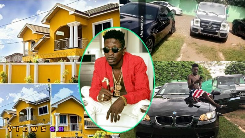 Shatta Wale acquires new Escalade; shows off his mansion and others cars (WATCH)