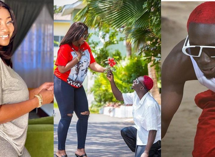 Bosom P Yung Goes Down On One Knee For Cookie Tee, His Latest Ataa Adwoa And She Said Yes – Photos