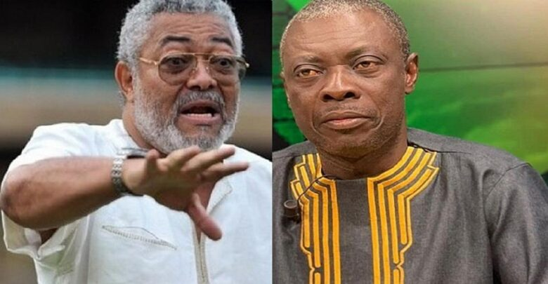 "Photo of Video: ""Don't bury me where Atta Mills, Amissah Arthur were buried — Rawlings told Osofokyiri Abosom before his death"