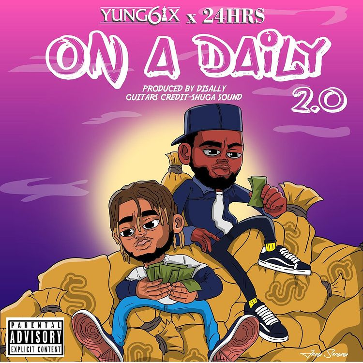 Yung6ix On A Daily 2.0 ft 24Hrs mp3 download